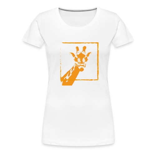 giraffe strichzeichnung orange - Frauen Premium T-Shirt