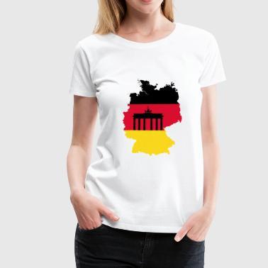 deutschland umriss - Frauen Premium T-Shirt