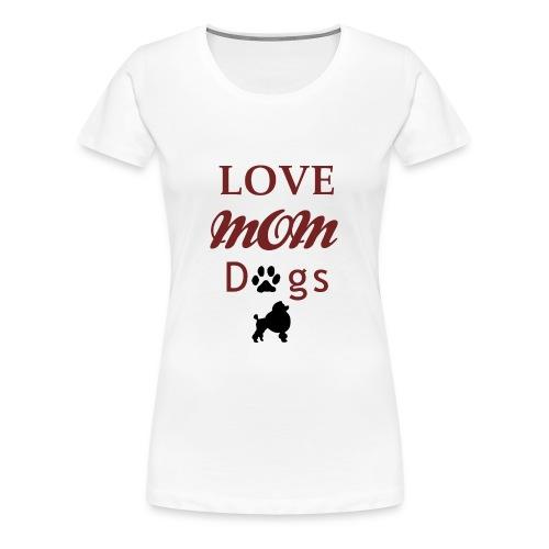 Mama Liebe Hunde Chiwawa transparent modi - Frauen Premium T-Shirt