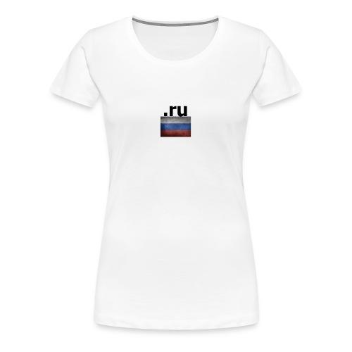 .ru Russland-Fahnen Trikot - Frauen Premium T-Shirt