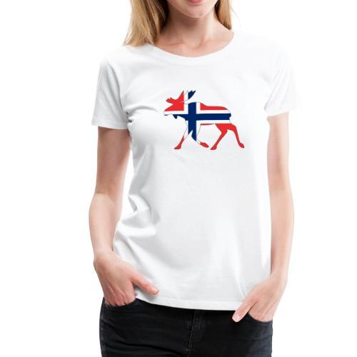Norwegen Elch - Frauen Premium T-Shirt