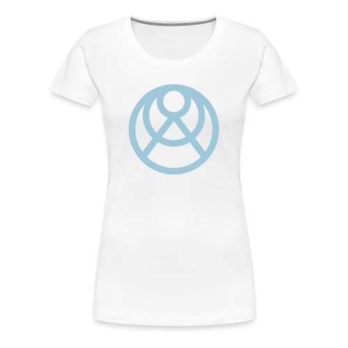 Faråkra symbol blå - Premium-T-shirt dam