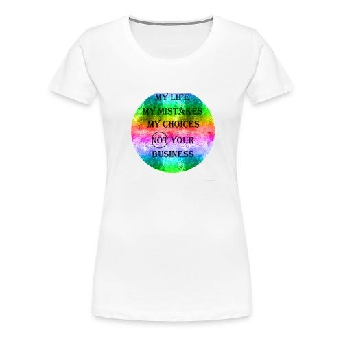 Rainbow/Regenbogen - Frauen Premium T-Shirt