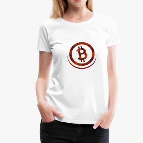 Bitcoin Shirt Orange & Red - Frauen Premium T-Shirt