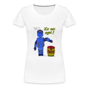 Roboter mit Senf - is mir egal! - Frauen Premium T-Shirt