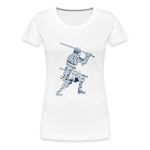 Typo-Ninja-Blue - Frauen Premium T-Shirt