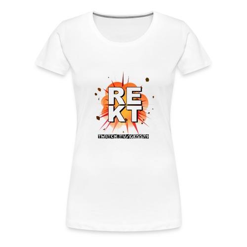 Rekt Twitch Black Font - Frauen Premium T-Shirt