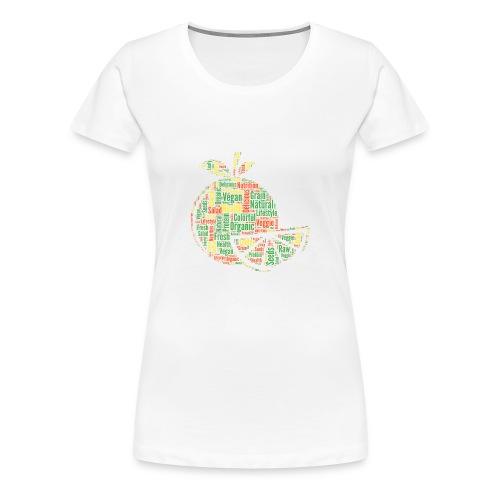 Vegan Cloud Veggie Vegetarisch Organic Geschenk - Frauen Premium T-Shirt