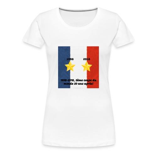 Collector 2éme coupe du monde 20 ans après - T-shirt Premium Femme