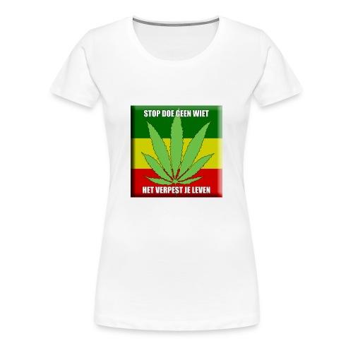 stop met wiet snapback - Vrouwen Premium T-shirt