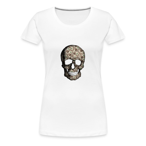 Skull Money Black - Camiseta premium mujer
