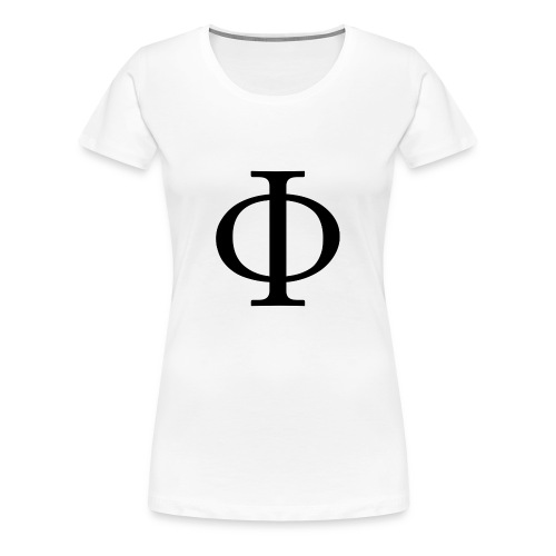 1024px-Greek_letter_uppercase_Phi-svg-png - Dame premium T-shirt