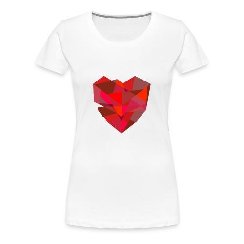 Poly-Heart - Camiseta premium mujer