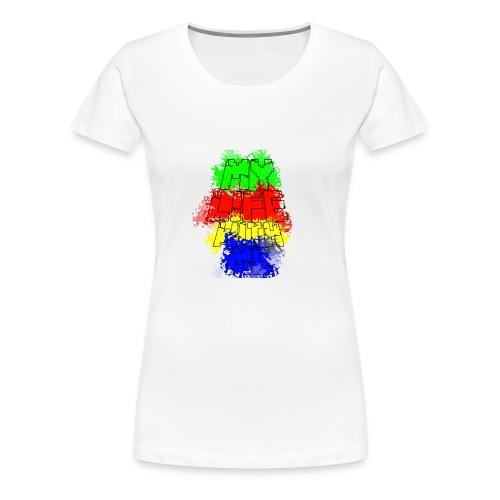 Den Officielle My Life With Minecraft Logo - Dame premium T-shirt