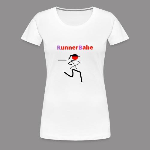 RunnerBabe 1 - Vrouwen Premium T-shirt