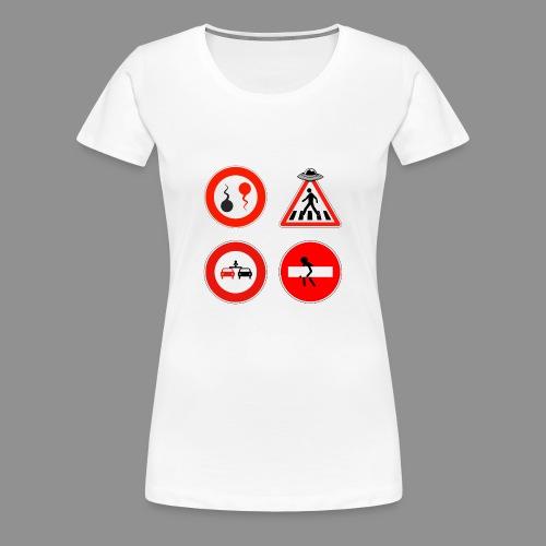 Panneaux Routiers - T-shirt Premium Femme
