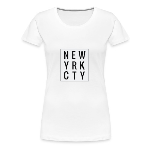 New York City Typo - Frauen Premium T-Shirt