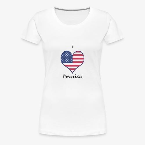 I Love America - Frauen Premium T-Shirt