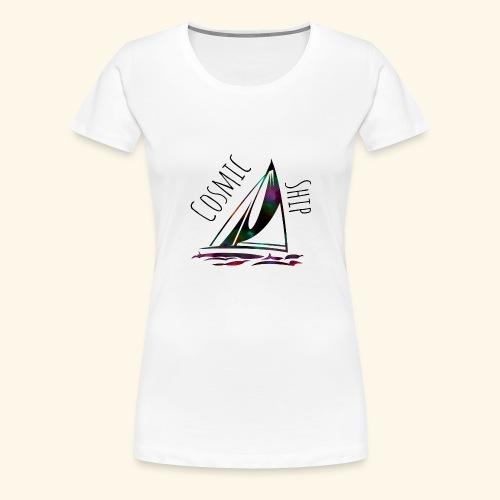 Cosmic Ship - Frauen Premium T-Shirt
