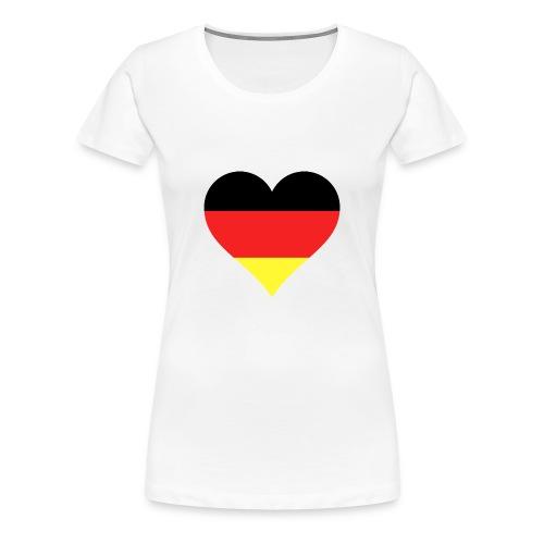 Deutsches Herz - Frauen Premium T-Shirt