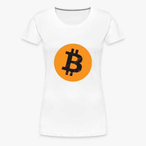 Bitcoin Logo - Frauen Premium T-Shirt