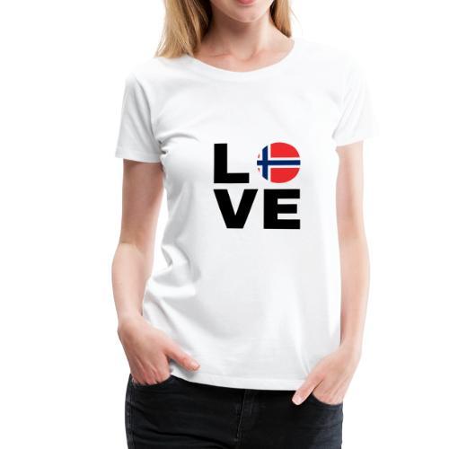 Norway Love - Norwegen Liebe - Geschenk Nord-Fan - Frauen Premium T-Shirt