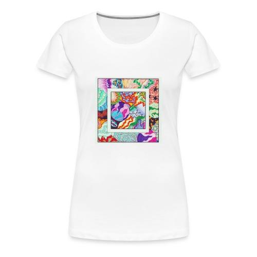 Moon The Lagoon Raccoon cover - Vrouwen Premium T-shirt
