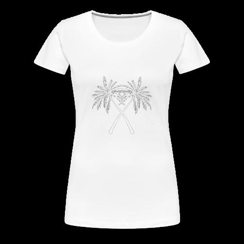 Drawn logo PalmX - Premium-T-shirt dam