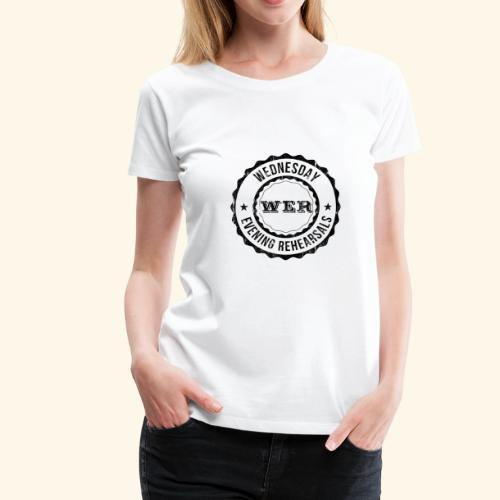 WER OFFICIAL BLACK - T-shirt Premium Femme