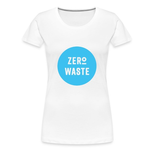 ZERO WASTE - blue - Women's Premium T-Shirt