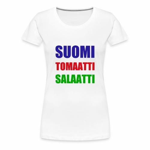 SUOMI SALAATTI tomater - Premium T-skjorte for kvinner