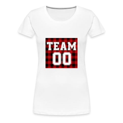 TEAM 00 T-shirt White - Vrouwen Premium T-shirt