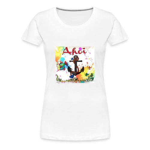 Ahoi mit Anker Design - Frauen Premium T-Shirt