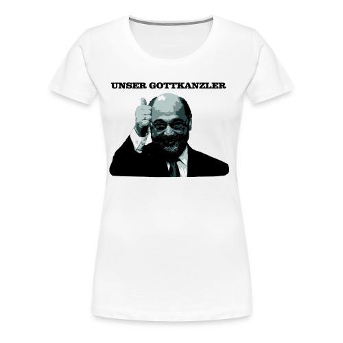 Gottkanzler Schulz - Frauen Premium T-Shirt