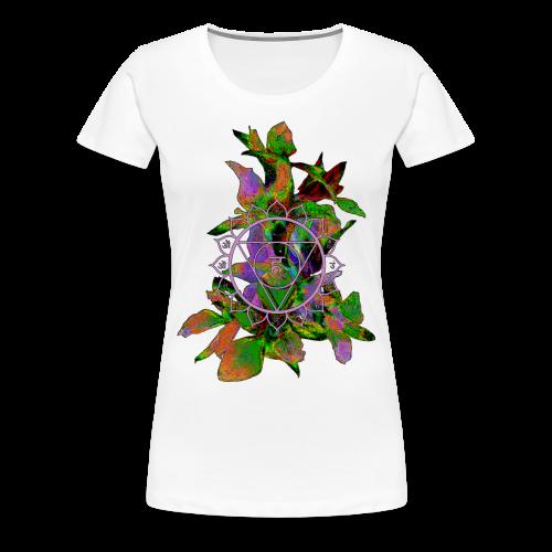 mandala and flowers2 - Women's Premium T-Shirt