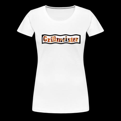 Grillmeister Logo. Für jeden der gerne grillt. - Frauen Premium T-Shirt