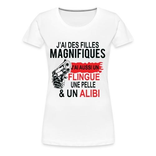 J'AI DEUX FILLES MAGNIFIQUES Best t-shirts 25% - T-shirt Premium Femme