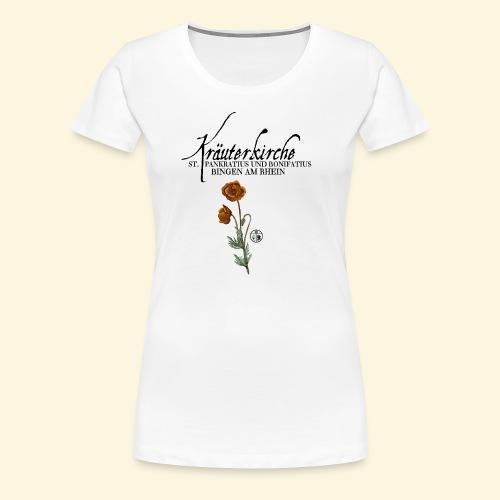 Kräuterkirche Mohn - Frauen Premium T-Shirt
