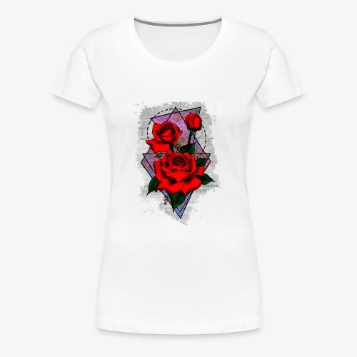Flowers Geo - Women's Premium T-Shirt