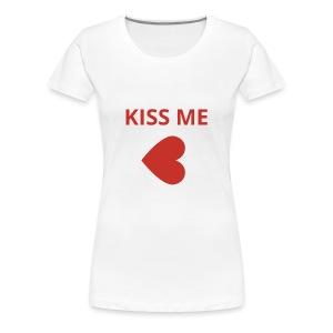 Embrasse moi - T-shirt Premium Femme