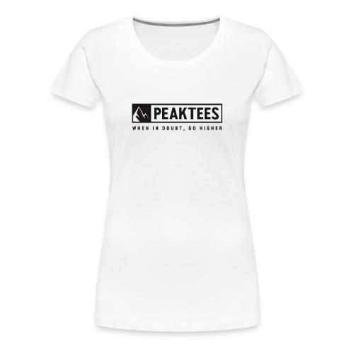 PeakTees Logo mit Claim - Frauen Premium T-Shirt
