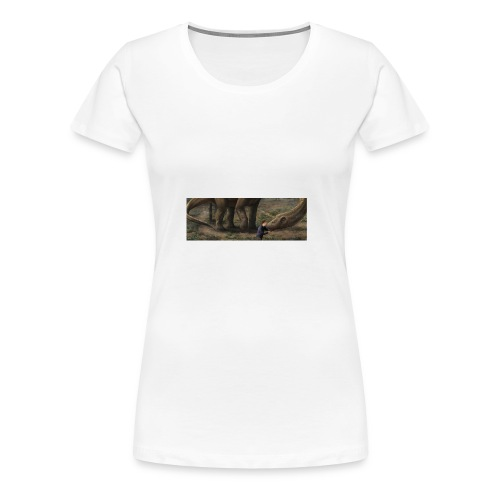Dinosauriemuggen - Björn älskar dinosaurier! - Premium-T-shirt dam
