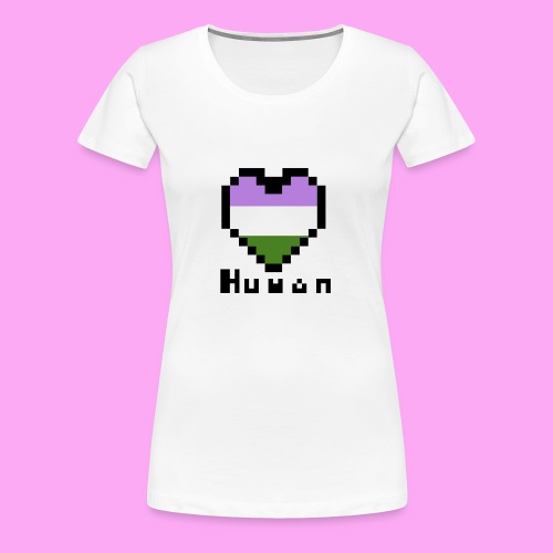 Pride heart genderqueer - Naisten premium t-paita