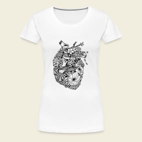 Kolibri Herz - Frauen Premium T-Shirt