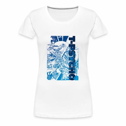 T PSYCO LIVREA BLUE - Maglietta Premium da donna
