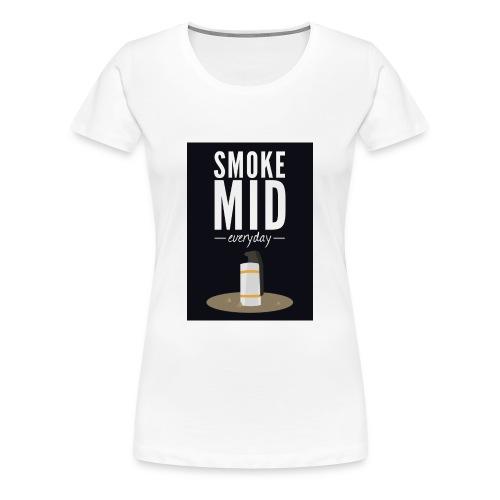 smoke mid - Vrouwen Premium T-shirt