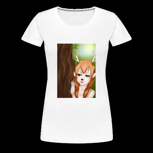 Womens tank: Deer-girl Design by Tina Ditte - Women's Premium T-Shirt