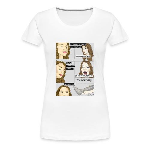 Fake legg, gymbag - Premium T-skjorte for kvinner