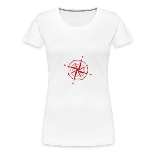Nordend Kompass Nordost - Frauen Premium T-Shirt