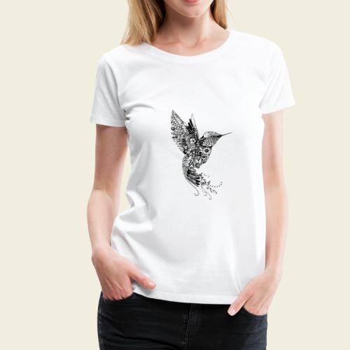 Großer Design-Kolibri - Frauen Premium T-Shirt